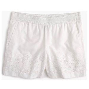 J. Crew Eyelet Shorts in White